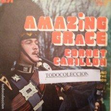 Discos de vinilo: THE MILITARY BAND OF THE ROYAL SCOTS DRAGON GUARDS: AMAZING GRACE + 1 SG PROMO 1972 ED,ESPAÑA. Lote 63660443