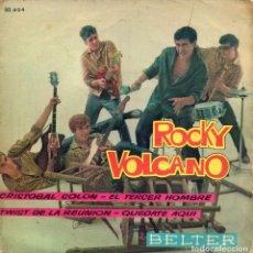 Discos de vinilo: ROCKY VOLCANO Y SUS VOLCANO TWISTERS, EP, CRISTOBAL COLON + 3, AÑO 1962. Lote 63705187