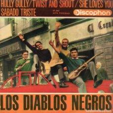 Discos de vinilo: DIABLOS NEGROS, EP, TWIST AMOR (TWIST AND SHOUT) + 3, AÑO 1964. Lote 63707375