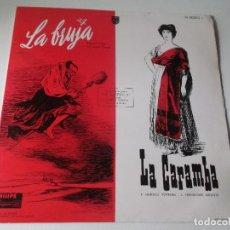 Discos de vinilo: LA BRUJA LA CARAMBA DIRECTOR FEDERICO MORENO TORROBA Y CORO LIRICO DE MADRID PHILIPS N 00593L. Lote 63768643