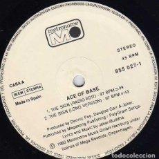 Discos de vinilo: ACE OF BASE 12 SPANISH MAXI THE SIGN 3 TRACKS 1993. Lote 24770505