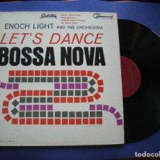 Discos de vinilo: ENOCH LIGHT AND HIS ORCHESTRA BOSSA NOVA LP CANADA 1963 PDELUXE. Lote 63782851