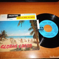 Discos de vinilo: GLORIA LASSO VALENTINO / LA CIGARRA / DANS LEE RUES DE BAHIA/SI TU REVIENS UN JOUR EP VINILO FRANCIA. Lote 63804587