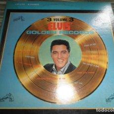 Discos de vinilo: ELVIS PRESLEY - GOLDEN RECORDS VOLUME 3 LP - EDICION U.S.A. - RCA 1963 - STEREO FUNDA INT. ORIGINAL . Lote 63810759