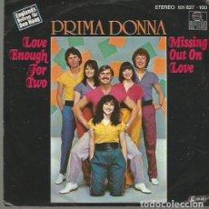 Discos de vinilo: PRIMA DONNA SINGLE SELLO ARIOLA AÑO 1980 EUROVISION INGLATERRA EDITADO EN ALEMANIA. Lote 63815539