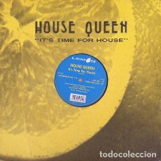 Discos de vinilo: HOUSE QUEEN - IT'S TIME FOR HOUSE . MAXI SINGLE . 1997 LEMON RECORDS ITALIA. Lote 32295806