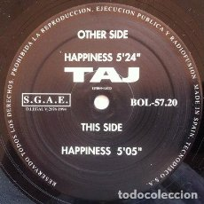 Discos de vinilo: TAJ - HAPPINESS . MAXI SINGLE . 1994 BOL RECORDS. Lote 32363897
