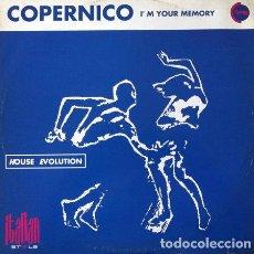 Discos de vinilo: COPERNICO - I'M YOUR MEMORY . MAXI SINGLE .1993 ITALIAN STYLE PRODUCTION – ISP 1178 ITALIA. Lote 32379413