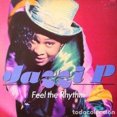 Discos de vinilo: JAZZI P - FEEL THE RHYTHM . MAXI SINGLE . 1990 A&M RECORDS GERMANY. Lote 32684728