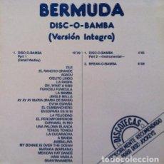 Discos de vinilo: BERMUDA - DISCO O BAMBA . LP . 1989 MAX MUSIC. Lote 32693142