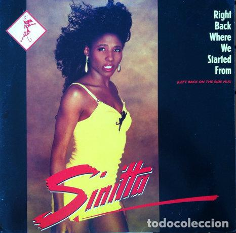 SINITTA - RIGHT BACK WHERE WE STARTED FROM . MAXI SINGLE . 1989 FONOMUSIC (Música - Discos de Vinilo - Maxi Singles - Disco y Dance)