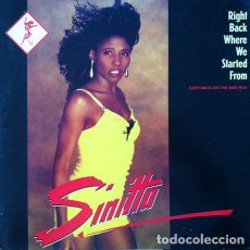 Discos de vinilo: SINITTA - RIGHT BACK WHERE WE STARTED FROM . MAXI SINGLE . 1989 FONOMUSIC. Lote 32703988