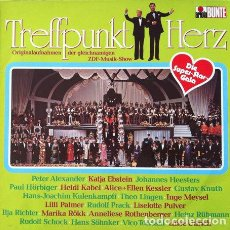 Discos de vinilo: TREFFPUNKT MIT HERZ - LP . 1975 ARIOLA GERMANY. Lote 32704197