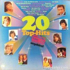Discos de vinilo: 20 TOP HITS ORIGINAL . LP . ARIOLA GERMANY. Lote 32704304