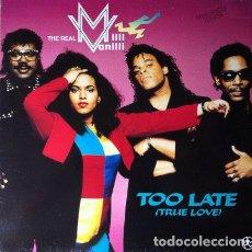Discos de vinilo: THE REAL MILLI VANILLI - TOO LATE (TRUE LOVE) . MAXI SINGLE . 1991 HANSA. Lote 170514688