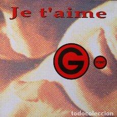 Discos de vinilo: G POINT - JE T'AIME . MAXI SINGLE . 1993 BLANCO Y NEGRO. Lote 32745135