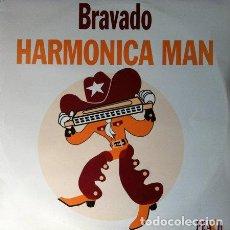 Discos de vinilo: BRAVADO - HARMONICA MAN . MAXI SINGLE . 1994 PEACH RECORDS. Lote 32824595