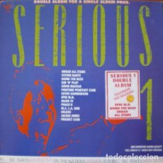 Discos de vinilo: SERIOUS 1 - BOMB THE BASS . MARK IV . STEVEN DANTE . PROJECT CLUB . DOBLE LP . 1988 LOW FAT VINYL UK. Lote 33258206