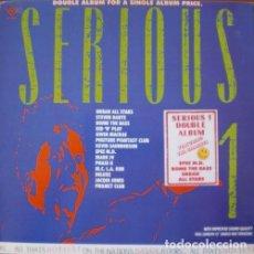 Disques de vinyle: SERIOUS 1 - BOMB THE BASS . MARK IV . STEVEN DANTE . PROJECT CLUB . DOBLE LP . 1988 LOW FAT VINYL UK. Lote 33258206