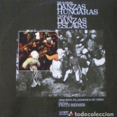 Discos de vinilo: BRAHMS- DANZAS HUNGARAS // DVORAK - DANZAS ESLAVAS . DIR . FRITZ REINER . LP . 1972 ACE OF DIAMONDS . Lote 33310879