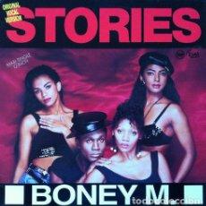 Discos de vinilo: BONEY M - STORIES . MAXI SINGLE . 1989 HANSA. Lote 33663036