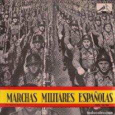 Discos de vinilo: MARCHAS MILITARES ESPAÑOLAS (LOS VOLUNTARIOS / CARTAGENA / HEROINA / BADAJOZ). 1958. Lote 63855827