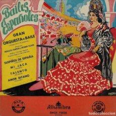 Discos de vinilo: BAILES ESPAÑOLES (SUSPIROS DE ESPAÑA / MI JACA / TALENTO / AMOR GITANO). AÑOS 50. Lote 63856911