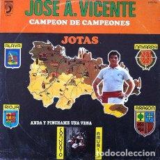 Discos de vinil: JOSE A. VICENTE - JOTAS . LP . 1981 DISCOPHON. Lote 34447892