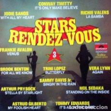 Discos de vinilo: STARS RENDEZ VOUS VOL 3 . LP . 1973 POLYDOR HOLANDA . FRANKIE AVALON . TRINI LOPEZ . ASTRUD GILBERTO. Lote 34479247