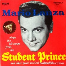 Discos de vinilo: MARIO LANZA - STUDENT PRINCE . LP . RCA AUSTRALIA . MONO . COMO NUEVO . . Lote 35108322