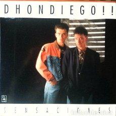 Discos de vinilo: DHONDIEGO - SENSACIONES . LP . 1990 HORUS . Lote 35115151
