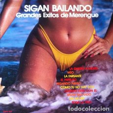 Discos de vinilo: SIGAN BAILANDO - GRANDES EXITOS DEL MERENGUE . LP . ORQUESTA SANTO DOMINGO ALL STARS BAND . USA. Lote 35301256