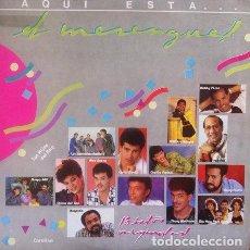 Discos de vinilo: VARIOS - AQUI ESTA .... EL MERENGUE !! . LP . 1988 KAREN RECORDS REPUBLICA DOMINICANA . KLP112. Lote 35499270