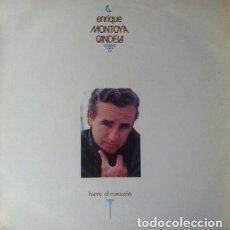 Discos de vinilo: ENRIQUE MONTOYA CANDELA - HIERE EL CORAZON . LP . 1989 ZAFIRO . 30312462. Lote 36042467