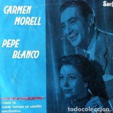 Discos de vinilo: CARMEN MORELL Y PEPE BLANCO - QUE NO SE ENTERE MI MADRE + 3 . EP . 1969 SAEF - SP 1004. Lote 36391283