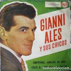 Discos de vinilo: GIANNI ALES Y SUS CHICOS - COLPEVOLE + 3 . EP . 1960 RCA . Lote 36471154