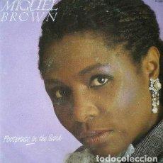 Discos de vinilo: MIQUEL BROWN -FOOTPRINTS IN THE SAND . SINGLE . 1987 ZAFIRO. Lote 36473865