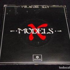 Discos de vinilo: X MODELS ( TVA AV OSS - SLUT ) 1981 - SWEDEN SINGLE45 PARLOPHONE. Lote 63928147