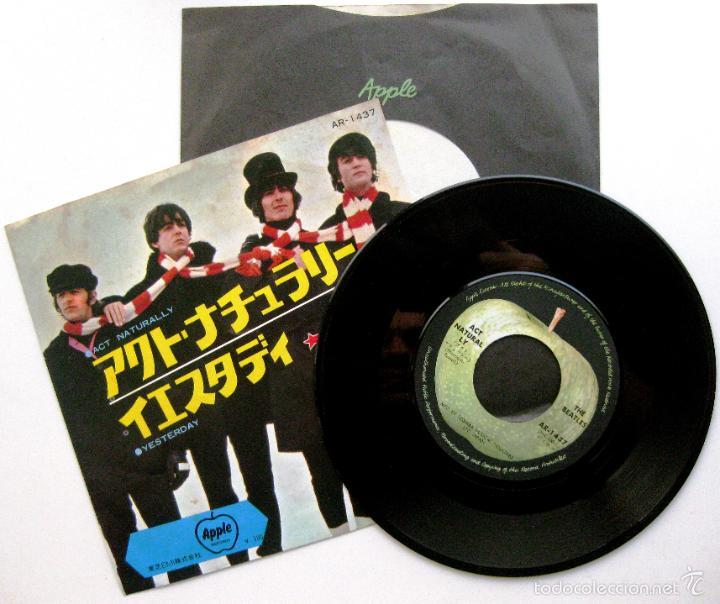 THE BEATLES - ACT NATURALLY / YESTERDAY - SINGLE APPLE RECORDS 1970 JAPAN (EDICIÓN JAPONESA) BPY (Música - Discos - Singles Vinilo - Pop - Rock Extranjero de los 50 y 60)