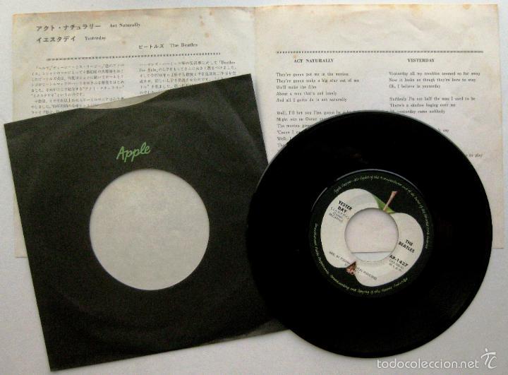 Discos de vinilo: The Beatles - Act Naturally / Yesterday - Single Apple Records 1970 Japan (Edición Japonesa) BPY - Foto 2 - 63934495