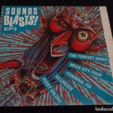 Discos de vinilo: SOUNDS BLASTS! ( THE PERFECT DISASTER - MEGA CITY FOUR - CEREBRAL FIX - KILLDOZER - PUSSY GALORE ) . Lote 63952899