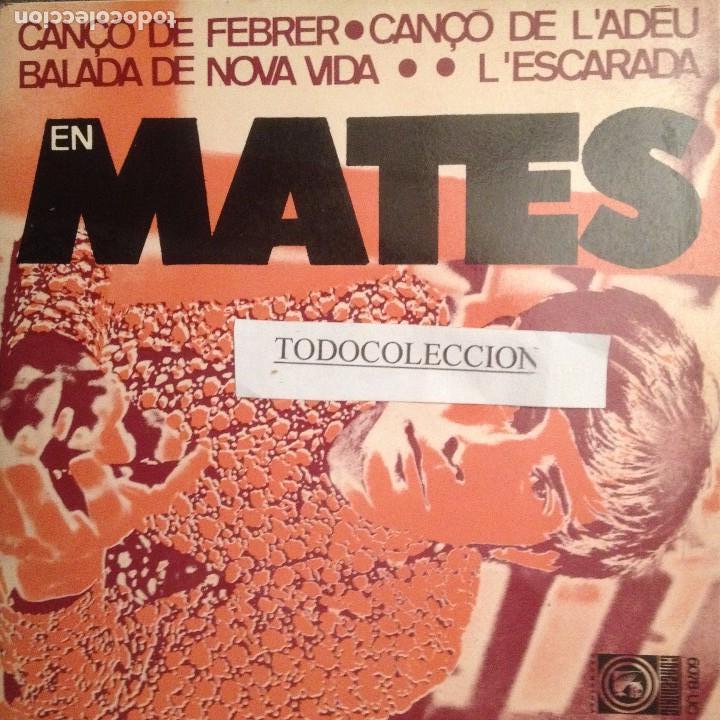 EN MATES: CANÇO DE FEBRER + 3 EP CONCENTRIC 1968 PAU RIBA, TONI CATANY, POP ART (Música - Discos de Vinilo - EPs - Solistas Españoles de los 50 y 60)