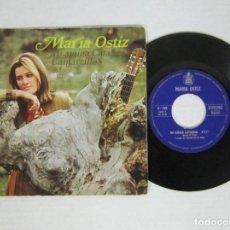 Discos de vinilo: MARIA OSTIZ - MI AMIGA CATALINA + CANTARCILLOS - SINGLE - HISPAVOX 1968 SPAIN. Lote 63966651