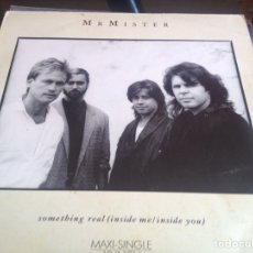 Discos de vinilo: MAXI VINILO MR MISTER - SOMETHING REAL. Lote 63966814