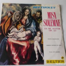 Discos de vinilo: BEETHOVEN MISA SOLEMME EN RE MAYOR OP 123 ORQUESTA SINFONICA DE VIENA - DIRECTOR OTTO KLEMPERER. Lote 64009975