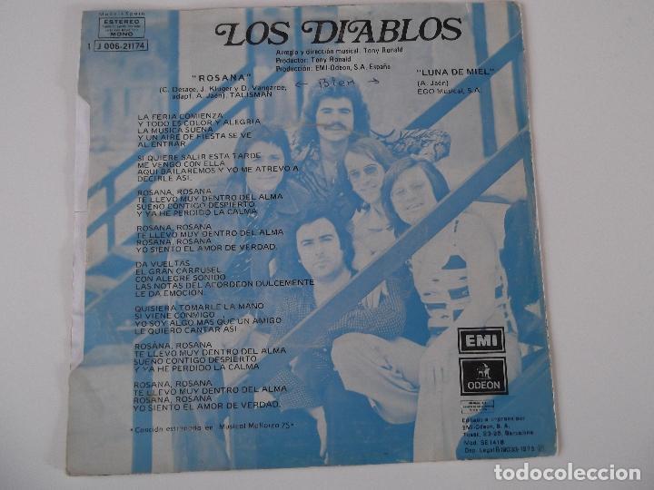 Discos de vinilo: LOS DIABLOS - ROSANA - Foto 2 - 61755720