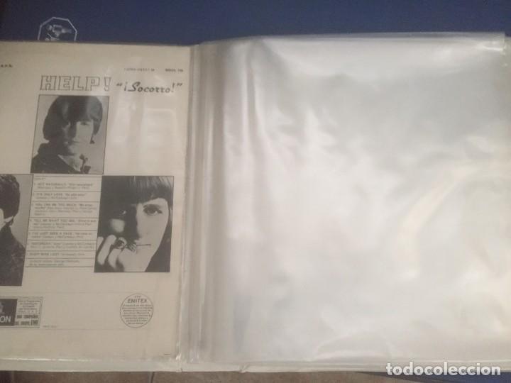 Discos de vinilo: disco de vinilo BEATLES (HELP) año 1965 con portadiscos para 12 discos de la misma epoca - Foto 12 - 64024259