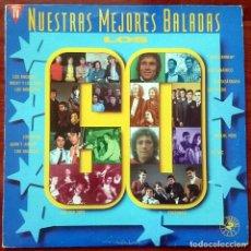 Discos de vinilo: VVAA: NUESTRAS MEJORES BALADAS - LOS 60, 2XLP HISPAVOX 180-7975371, SPAIN, 1991. VG+/VG+. Lote 64057071