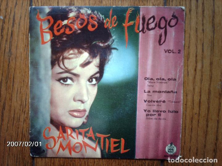 SARITA MONTIEL - BESOS DE FUEGO VOL 2 - OLA, OLA, OLA +3 (Música - Discos de Vinilo - EPs - Flamenco, Canción española y Cuplé)