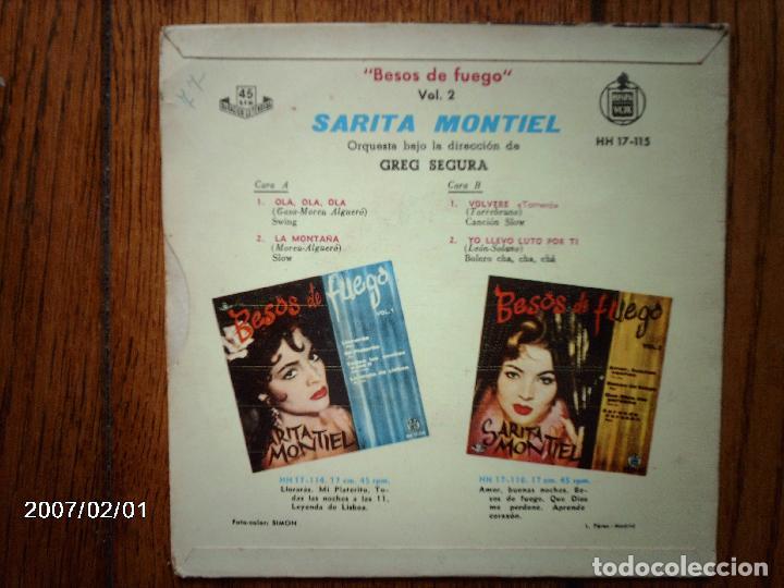 Discos de vinilo: sarita montiel - besos de fuego vol 2 - ola, ola, ola +3 - Foto 2 - 64058331